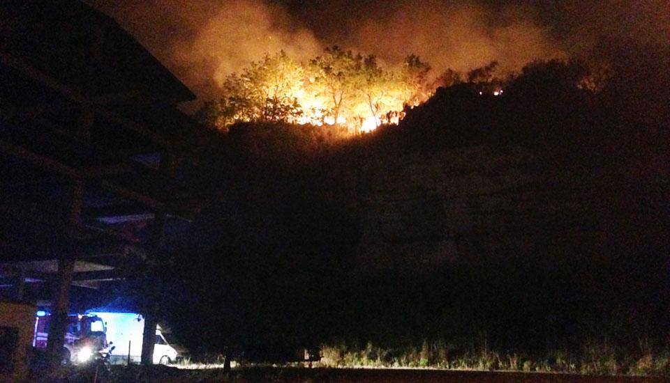 incendio marcellina vigili fuoco case
