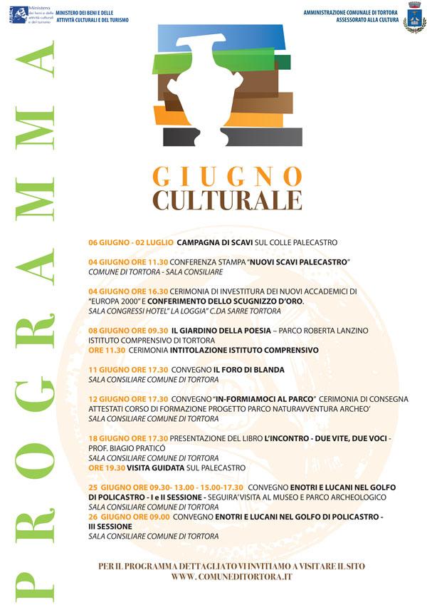 il programma del giugno culturale di Tortora