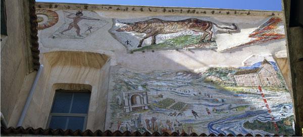 Il murale realizzato dai coniugi Sposito