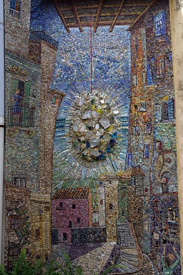 Un particolare del Mosaico Sposito