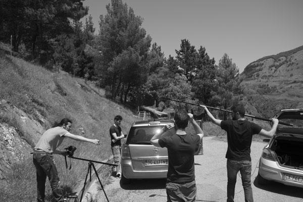 Un altro momento delle riprese del cortometraggio