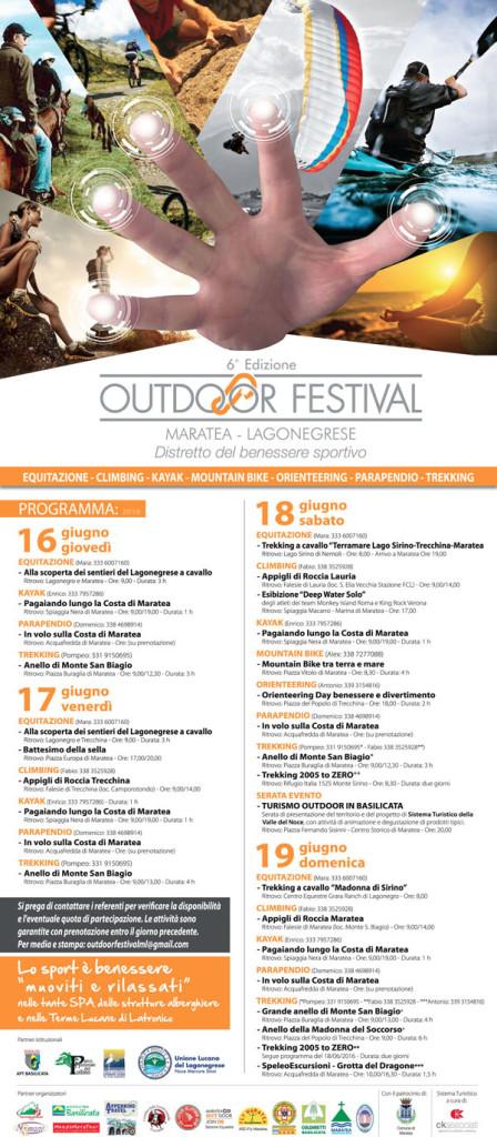 il programma completo dell'Outdoor festival