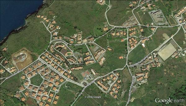 L'area dei parchi turistici interessata da allarme furti a San Nicola Arcella (foto: Google Earth)