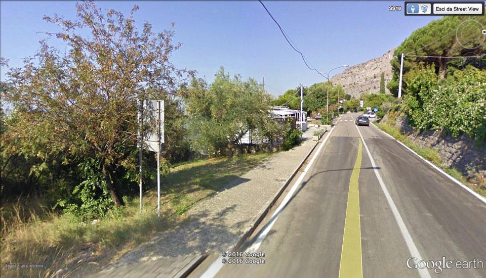 Acquafredda di Maratea: il luogo dove è avvenuta la caduta (foto: Google Earth)