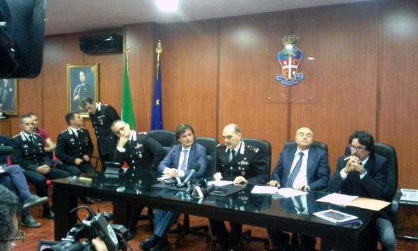 Operazione Frontiera: conferenza stampa. A destra Gratteri e Bombardieri.
