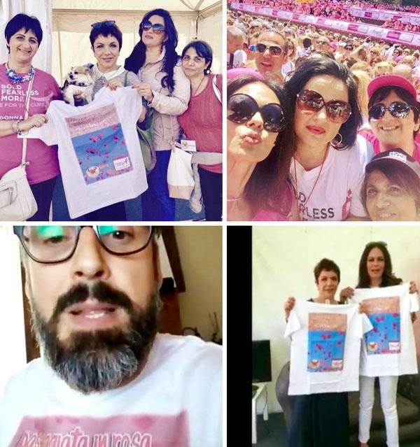 tumore del seno passeggiata rosa