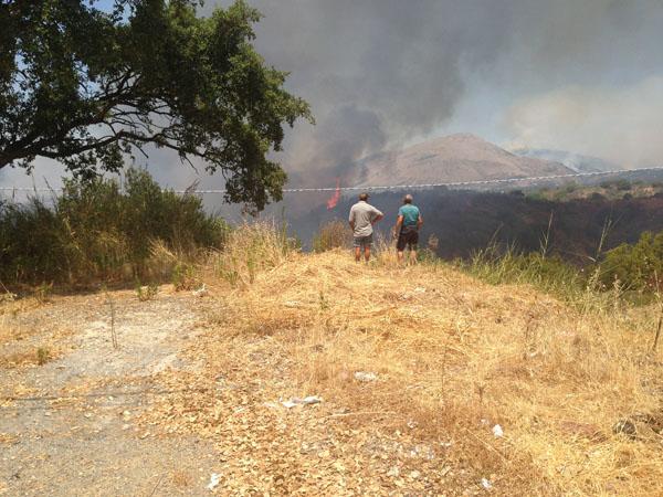 marcellina incendio località valle