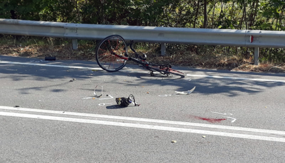 tortora incidente cicilista auto