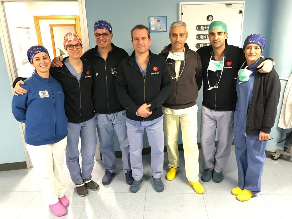 equipe cardiochirurgia ospedale San Carlo potenza