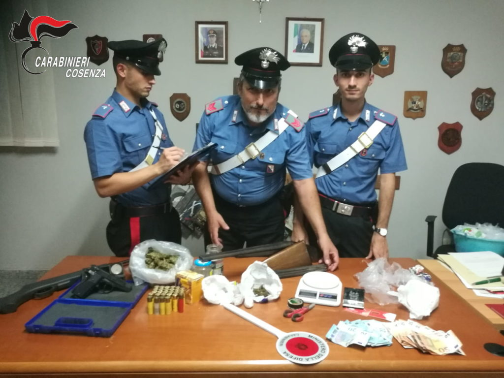 belvedere marittimo arresti cocaina marijuana casola sant'andrea