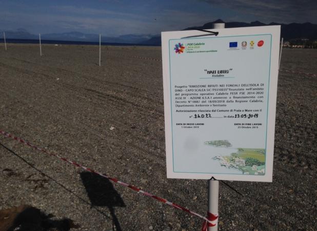 isola dino fondali pulizia progetto