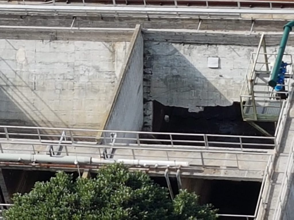 belvedere marittimo depuratore crollo parete vasca 2019