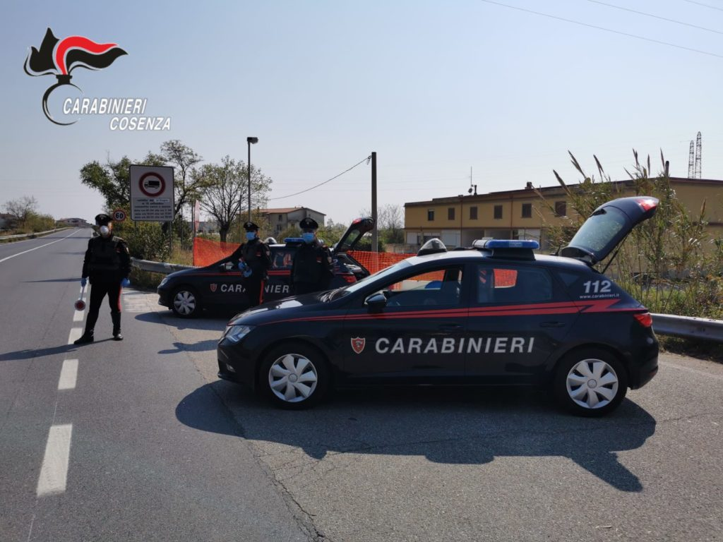 carabinieri tortora ss18 coronavirus pasqua controlli