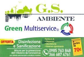 green multiservice disinfezione