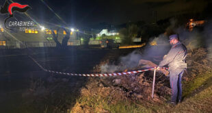 montalto uffugo incendio rifiuti call center