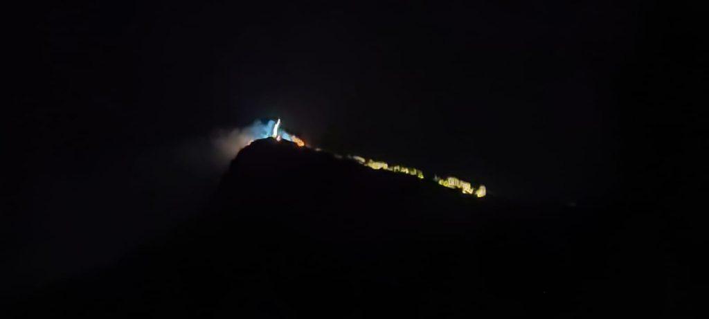 maratea incendio monte san biagio cristo
