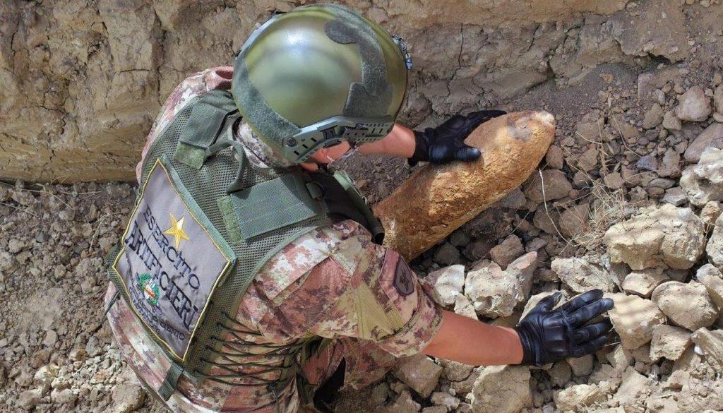 artificieri castrovillari bomba seconda guerra mondiale
