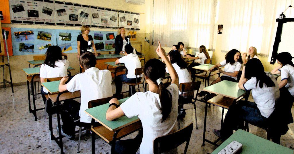 scuola classe studenti
