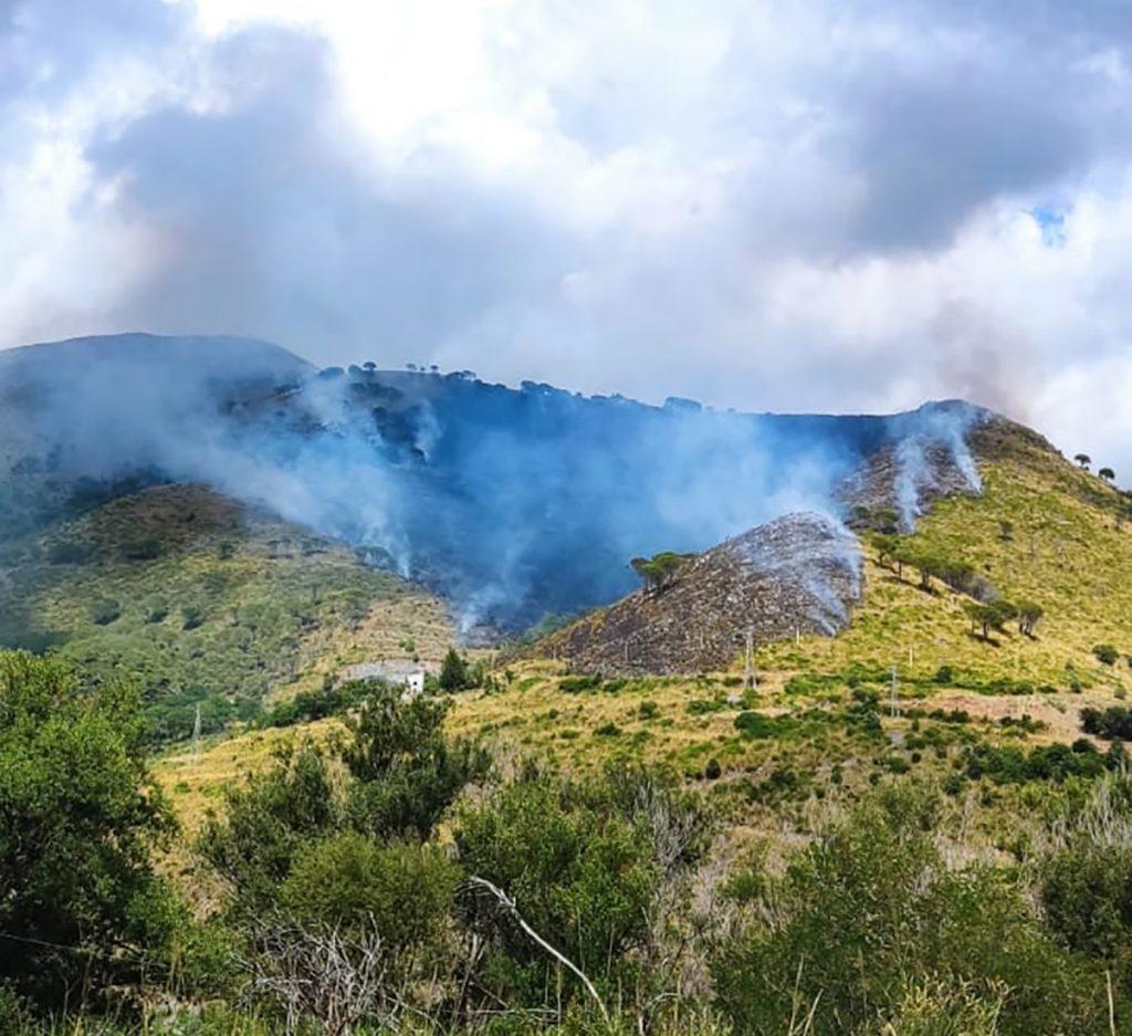 tortora località fiume grande incendio 2021