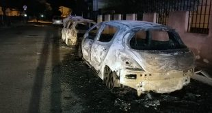 tortora incendio automobili via mazzini